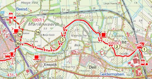 Map Betuwe hike