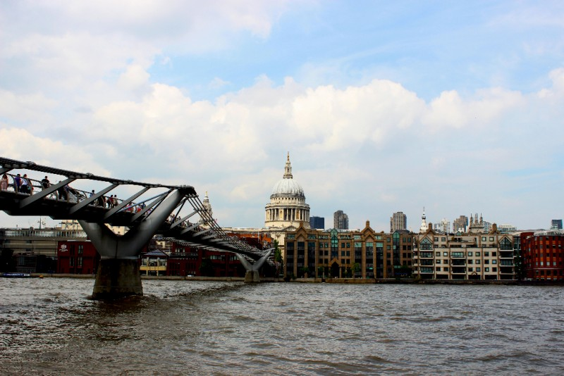 St Paul's and Millenium Bridge, London