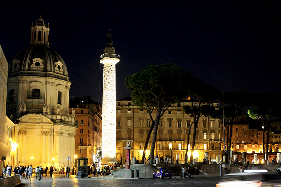 Rome at night