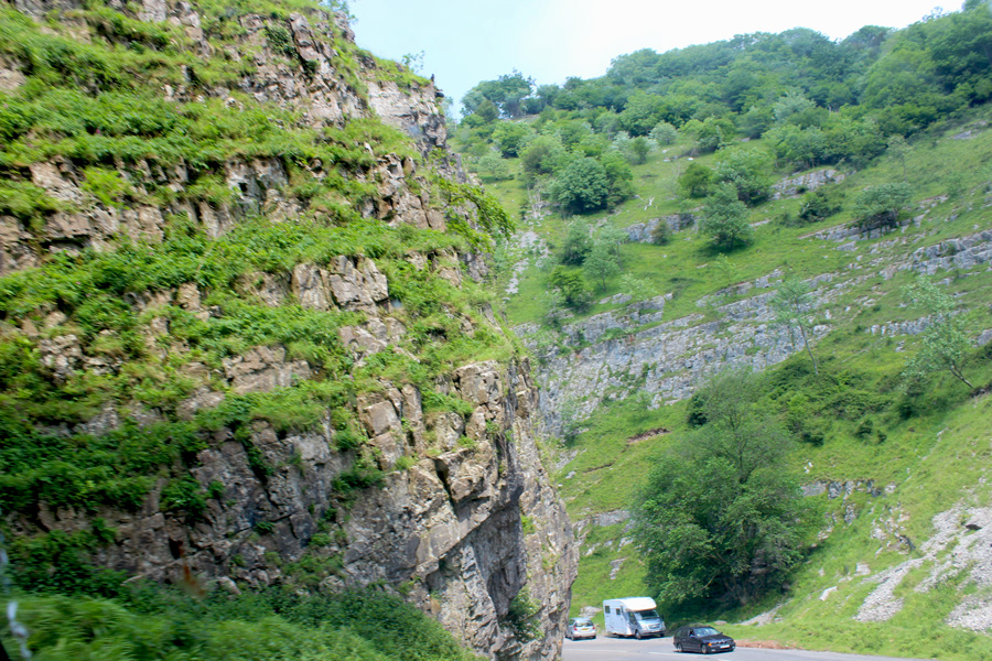 Cheddar Gorge road
