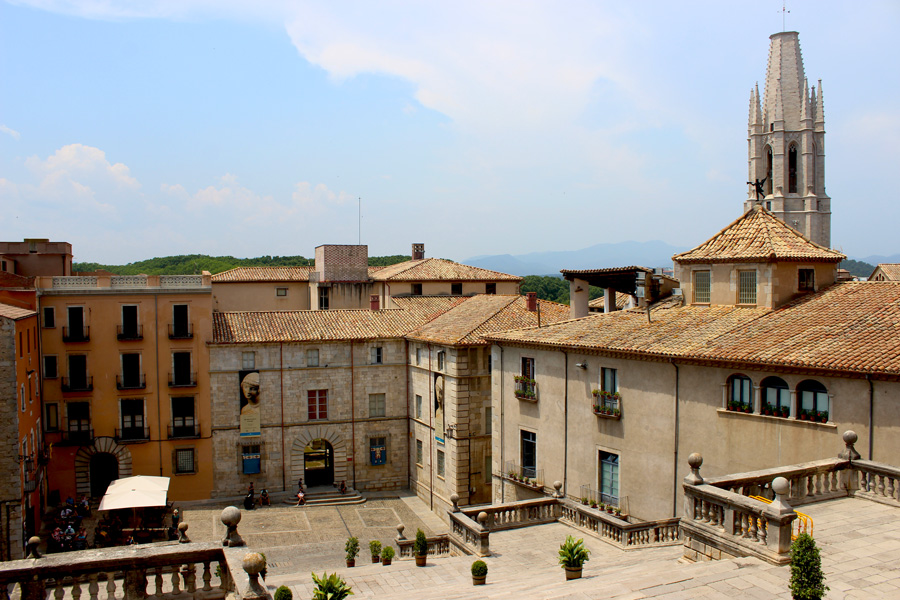 Girona-Cathedral-view-overlooking-the-city
