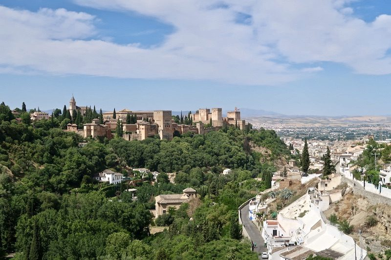 view on alhambra and granada from sacromonte