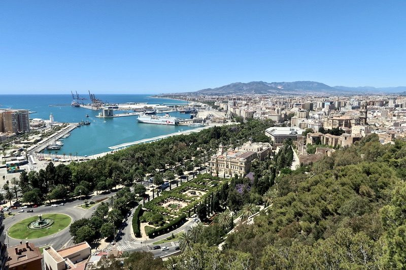 view on malaga